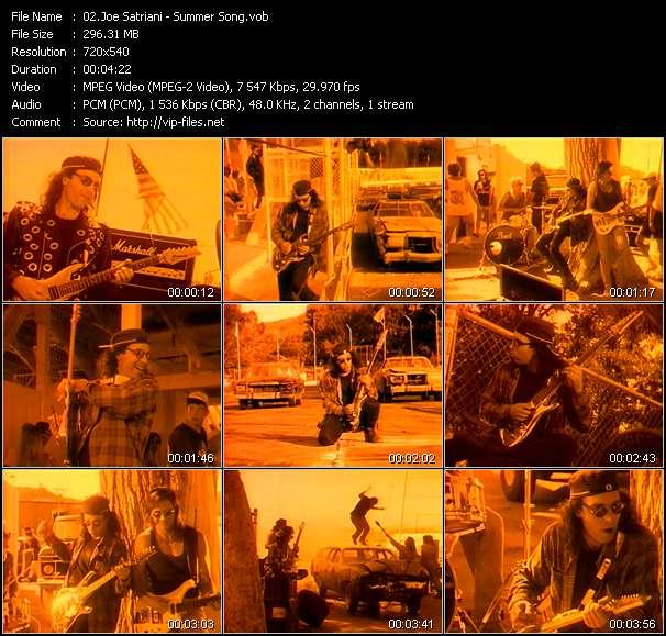 Joe Satriani video vob
