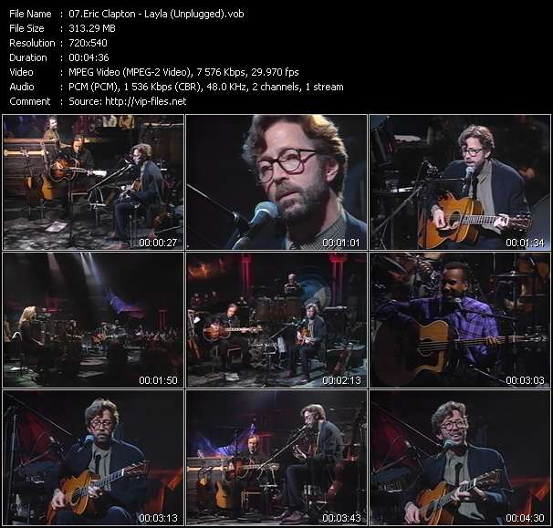 Eric Clapton clips musicaux vob