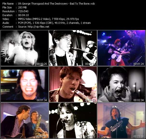 George Thorogood And The Destroyers clips musicaux vob