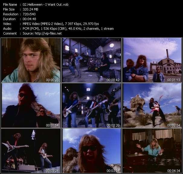 Helloween clips musicaux vob