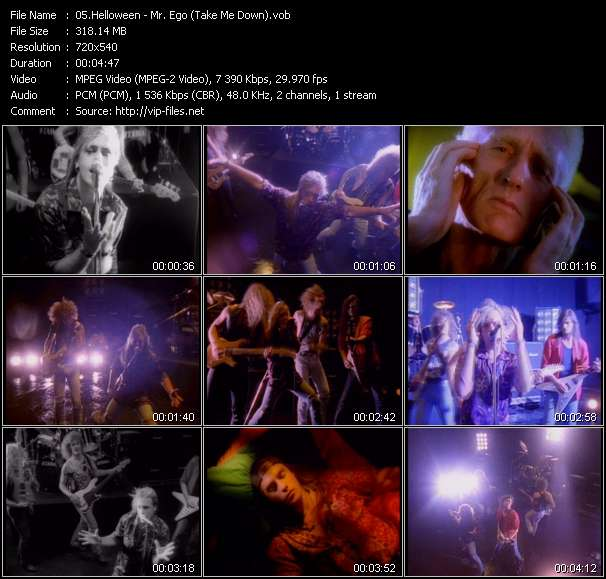 Screenshot of Music Video Helloween - Mr. Ego (Take Me Down)