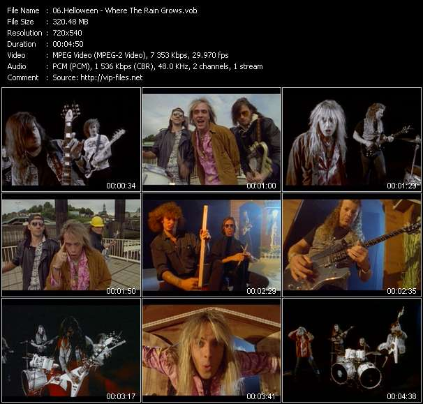 Screenshot of Music Video Helloween - Where The Rain Grows