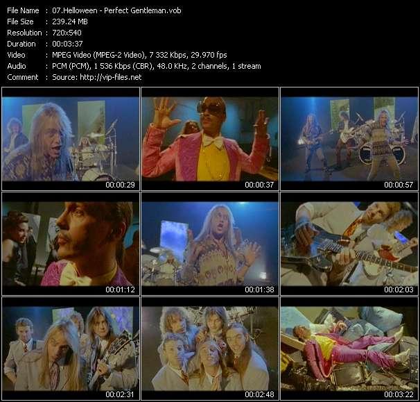 Screenshot of Music Video Helloween - Perfect Gentleman