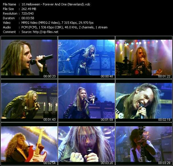 Screenshot of Music Video Helloween - Forever And One (Neverland)