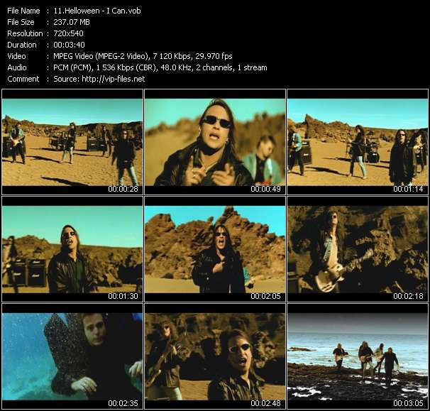 Screenshot of Music Video Helloween - I Can