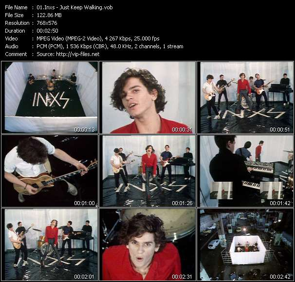 Screenshot of Music Video Inxs - Just Keep Walking