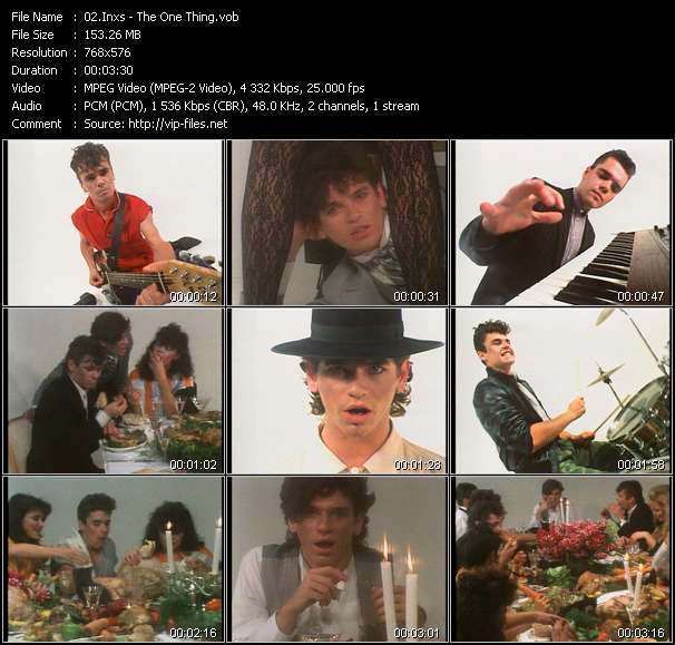 Screenshot of Music Video Inxs - The One Thing