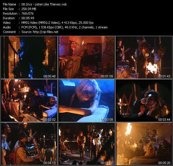 Screenshot of Music Video Inxs - Listen Like Thieves