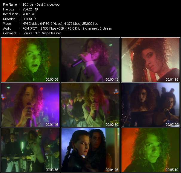 Screenshot of Music Video Inxs - Devil Inside