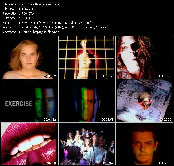 Screenshot of Music Video Inxs - Beautiful Girl