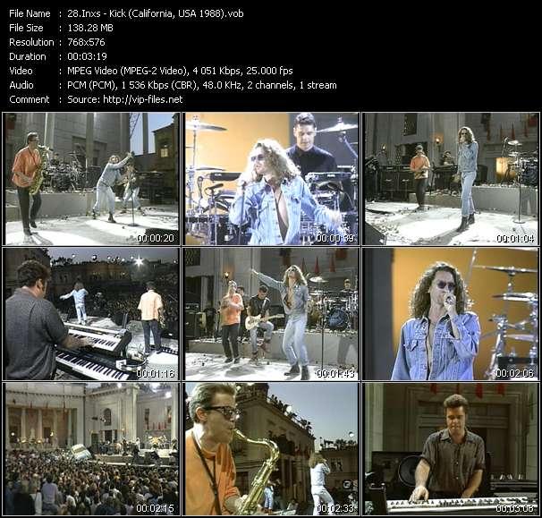 Screenshot of Music Video Inxs - Kick (California, USA 1988)