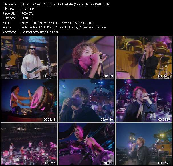 Screenshot of Music Video Inxs - Need You Tonight - Mediate (Osaka, Japan 1994)