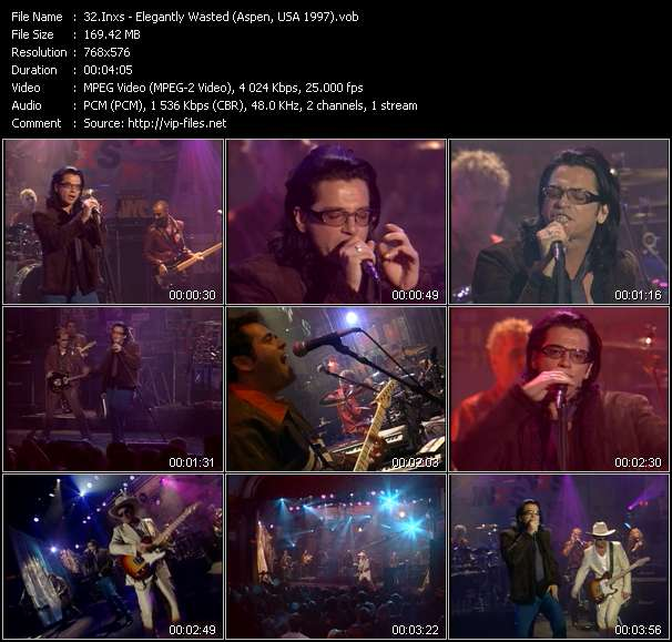 Screenshot of Music Video Inxs - Elegantly Wasted (Aspen, USA 1997)