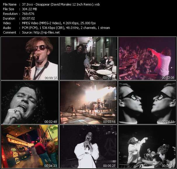 Screenshot of Music Video Inxs - Disappear (David Morales 12 Inch Remix)