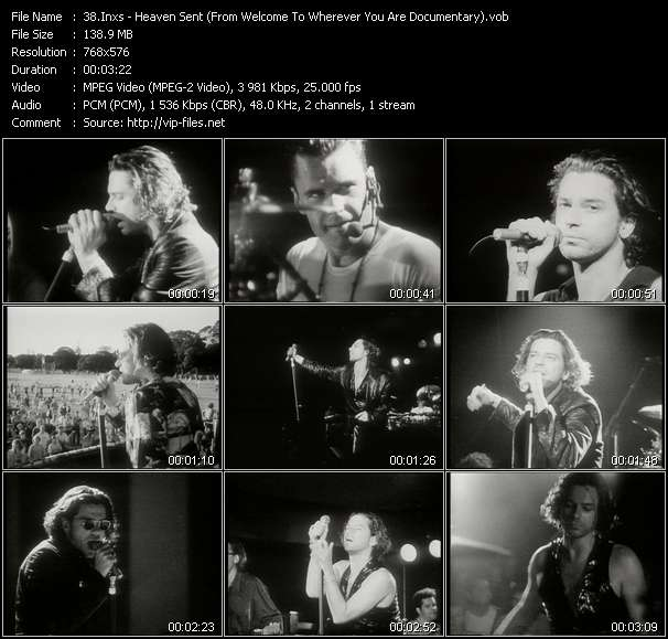 Screenshot of Music Video Inxs - Heaven Sent (From Welcome To Wherever You Are Documentary)