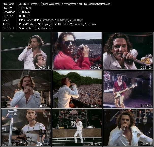 Screenshot of Music Video Inxs - Mystify (From Welcome To Wherever You Are Documentary)