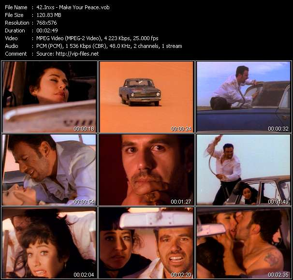 Screenshot of Music Video Inxs - Make Your Peace
