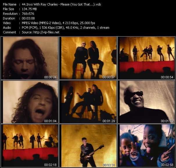 Screenshot of Music Video Inxs With Ray Charles - Please (You Got That...)