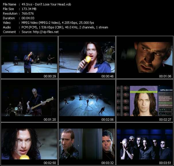 Screenshot of Music Video Inxs - Don't Lose Your Head