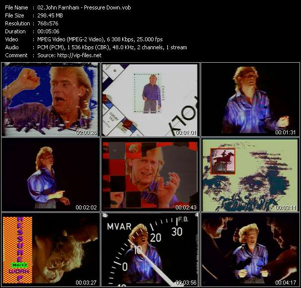 Screenshot of Music Video John Farnham - Pressure Down