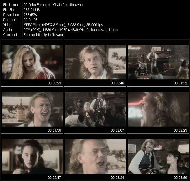 Screenshot of Music Video John Farnham - Chain Reaction