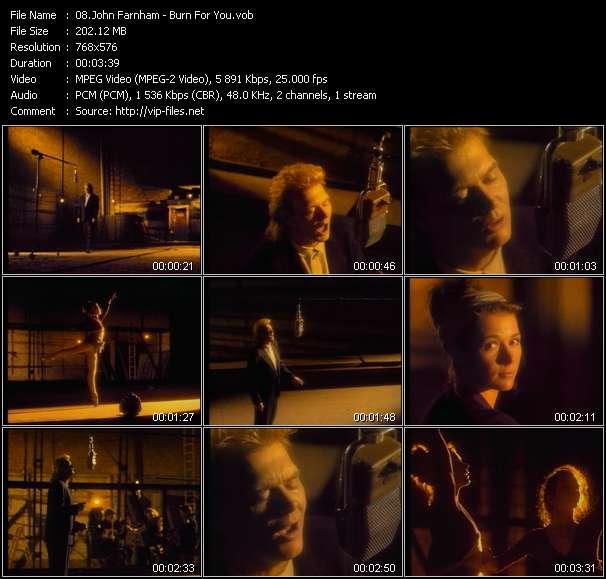Screenshot of Music Video John Farnham - Burn For You