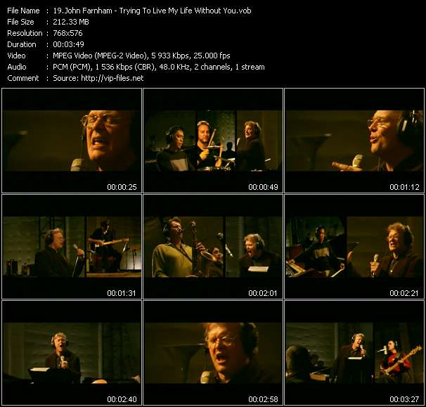 Screenshot of Music Video John Farnham - Trying To Live My Life Without You