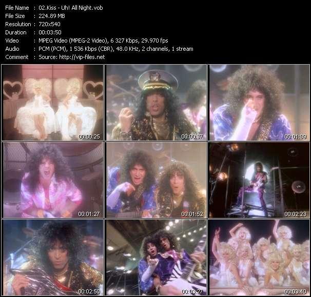Screenshot of Music Video Kiss - Uh! All Night