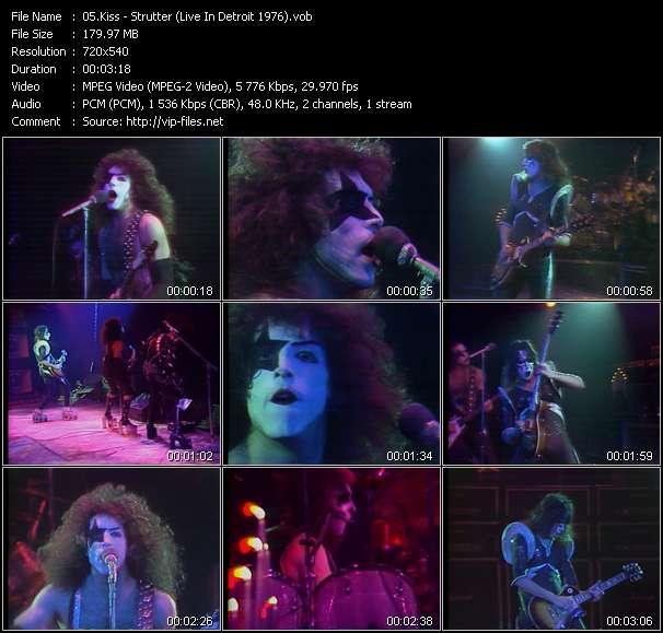 Screenshot of Music Video Kiss - Strutter (Live In Detroit 1976)