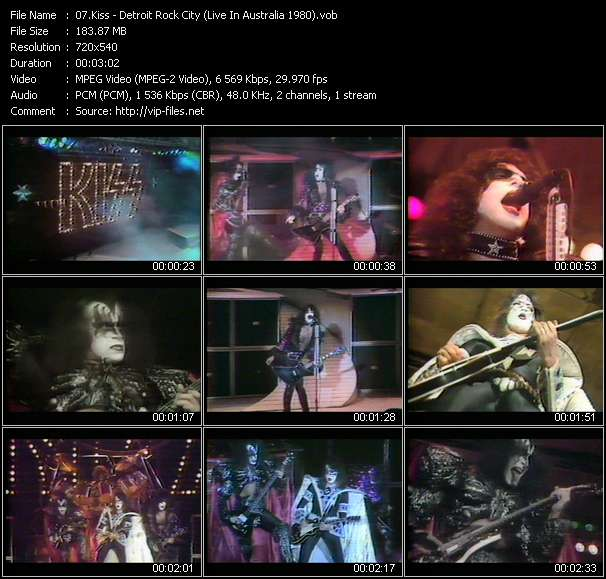 Screenshot of Music Video Kiss - Detroit Rock City (Live In Australia 1980)