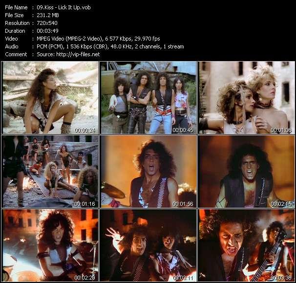 Screenshot of Music Video Kiss - Lick It Up