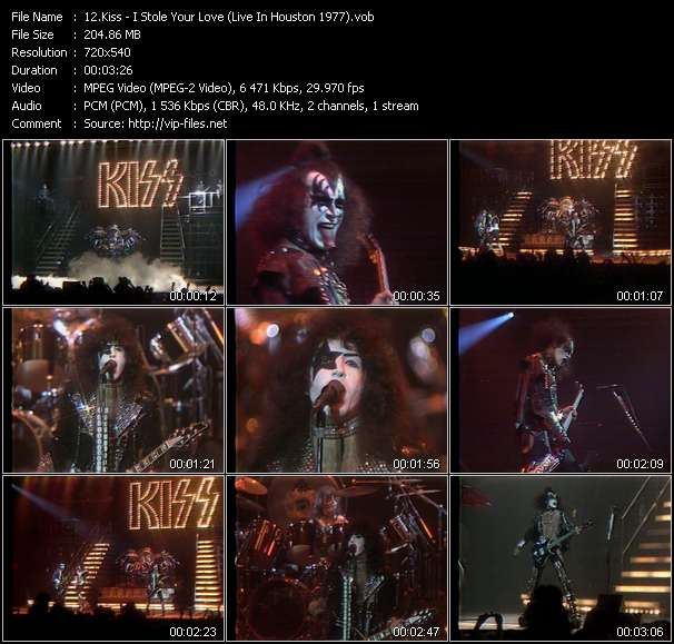 Screenshot of Music Video Kiss - I Stole Your Love (Live In Houston 1977)