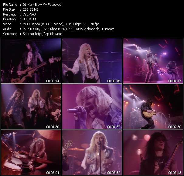 Screenshot of Music Video Kix - Blow My Fuse