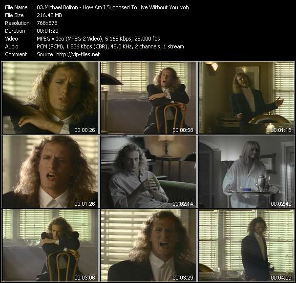 Screenshot of Music Video Michael Bolton - How Am I Supposed To Live Without You