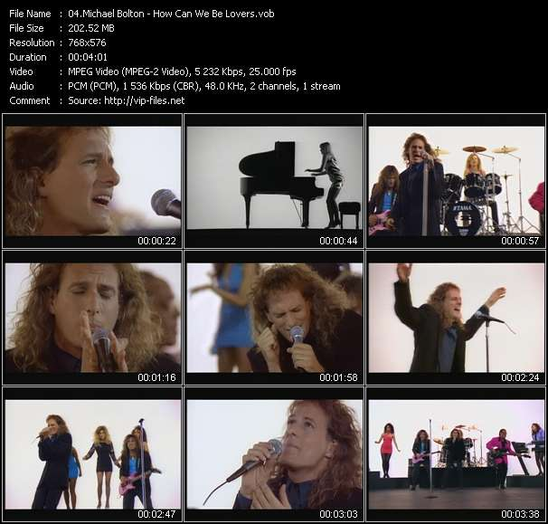 Screenshot of Music Video Michael Bolton - How Can We Be Lovers