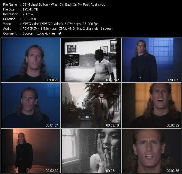 Screenshot of Music Video Michael Bolton - When I'm Back On My Feet Again