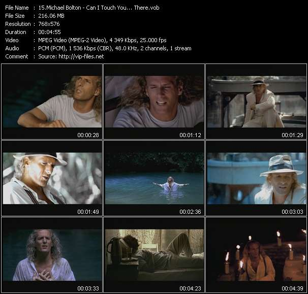 Screenshot of Music Video Michael Bolton - Can I Touch You... There?