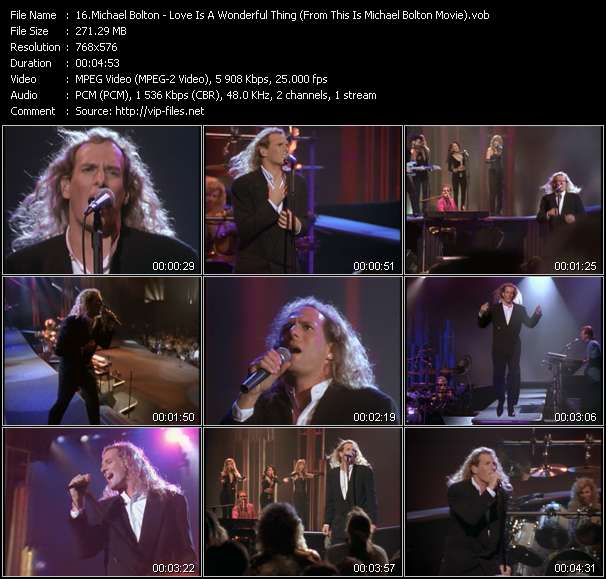 """Screenshot of Music Video Michael Bolton - Love Is A Wonderful Thing (From """"This Is Michael Bolton"""" Movie)"""