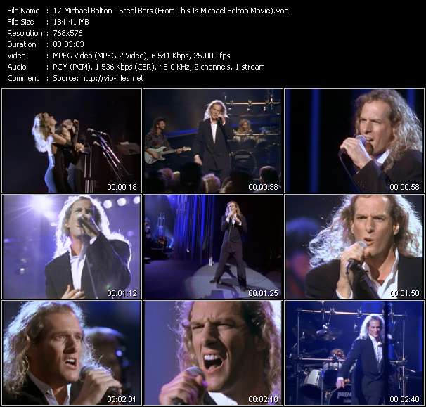 "Screenshot of Music Video Michael Bolton - Steel Bars (From ""This Is Michael Bolton"" Movie)"