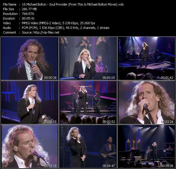 "Screenshot of Music Video Michael Bolton - Soul Provider (From ""This Is Michael Bolton"" Movie)"