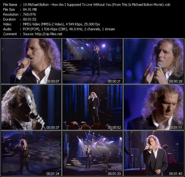 "Screenshot of Music Video Michael Bolton - How Am I Supposed To Live Without You (From ""This Is Michael Bolton"" Movie)"