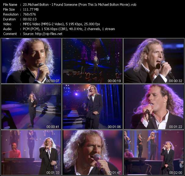 "Screenshot of Music Video Michael Bolton - I Found Someone (From ""This Is Michael Bolton"" Movie)"