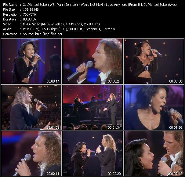 "Screenshot of Music Video Michael Bolton With Vann Johnson - We're Not Makin' Love Anymore (From ""This Is Michael Bolton"" Movie)"