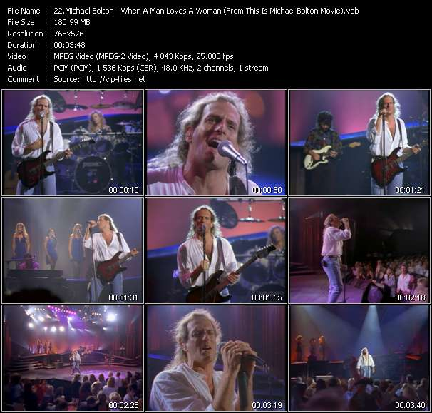 "Screenshot of Music Video Michael Bolton - When A Man Loves A Woman (From ""This Is Michael Bolton"" Movie)"