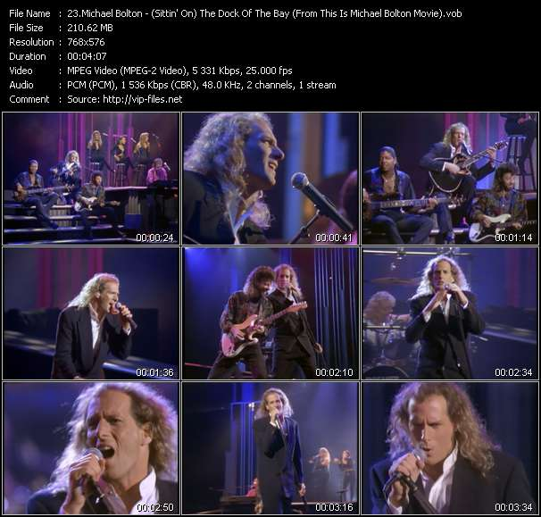 "Screenshot of Music Video Michael Bolton - (Sittin' On) The Dock Of The Bay (From ""This Is Michael Bolton"" Movie)"
