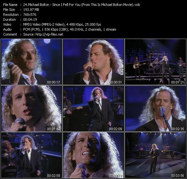 "Screenshot of Music Video Michael Bolton - Since I Fell For You (From ""This Is Michael Bolton"" Movie)"