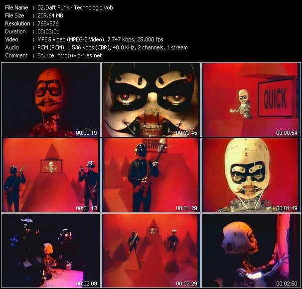 Screenshot of Music Video Daft Punk - Technologic