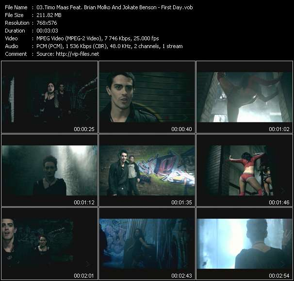 Screenshot of Music Video Timo Maas Feat. Brian Molko And Jokate Benson - First Day
