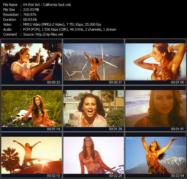 Screenshot of Music Video Riot Act - California Soul