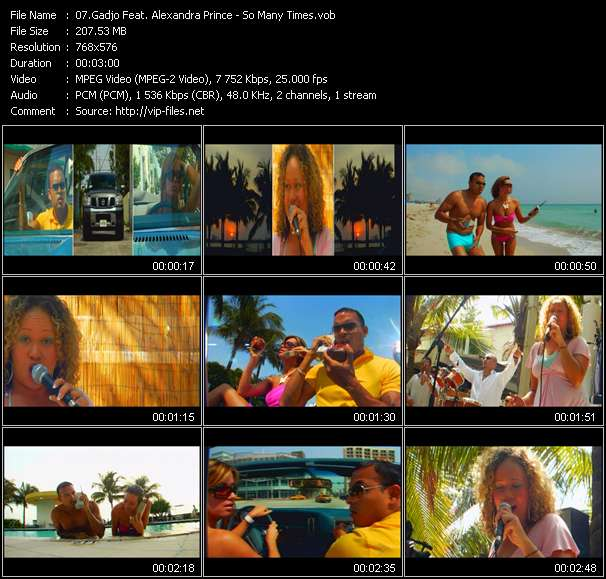 Screenshot of Music Video Gadjo Feat. Alexandra Prince - So Many Times